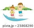 海水浴 男女 海のイラスト 23868290