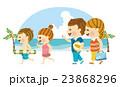 海水浴 家族 海のイラスト 23868296