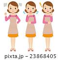 主婦 女性 表情のイラスト 23868405