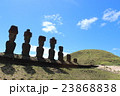 イースター島 モアイ像 世界遺産の写真 23868838