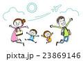 ジャンプ 笑顔 喜びのイラスト 23869146