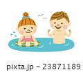 海水浴 男女 海のイラスト 23871189