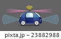 自動運転 車 ドライバーレスのイラスト 23882988