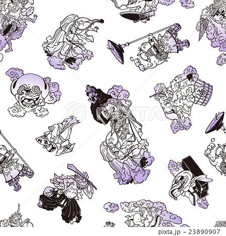 妖怪のイラストパターンのイラスト素材 23890907 Pixta