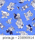 妖怪のイラストパターン 23890914