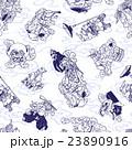 妖怪のイラストパターン 23890916