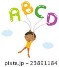 アルファベットの風船と子供 23891184