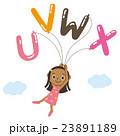 アルファベットの風船と子供 23891189