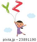 アルファベットの風船と子供 23891190
