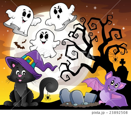 Halloween cat theme image 6のイラスト素材 [23892508] - PIXTA
