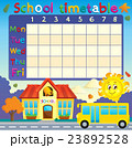School timetable with school and bus 23892528