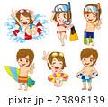 夏 水着 ベクターのイラスト 23898139