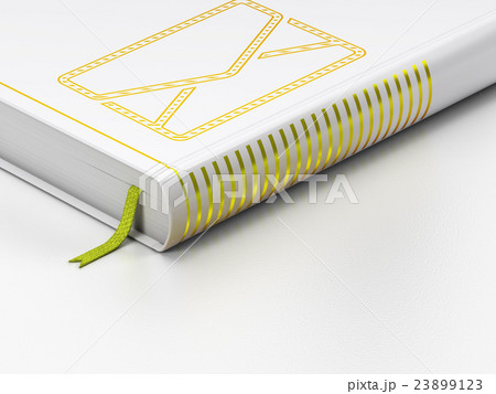 Finance concept: closed book, Email on whiteのイラスト素材 [23899123] - PIXTA