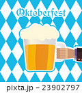 Oktoberfest vector illustration with beer mug 23902797