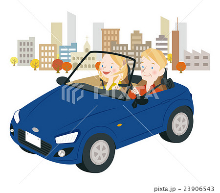 ドライブ中の男女 23906543