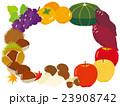 秋の味覚フレーム 23908742