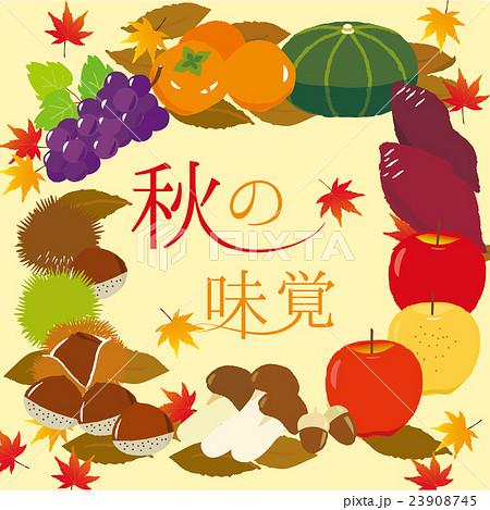 秋の味覚イラスト 23908745