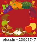 秋の味覚 フレーム 秋のイラスト 23908747