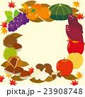 秋の味覚 フレーム 秋のイラスト 23908748