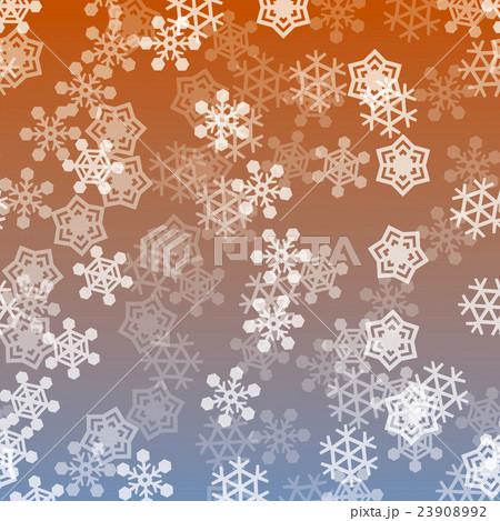 雪バックグラウンド_結晶ミックス大_あかね色のイラスト素材 [23908992] - PIXTA
