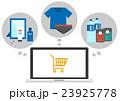 イラスト素材 インターネットショッピング PC  23925778