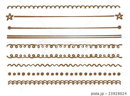 おしゃれなアナログペン画風 ラインイラスト セット素材 手書き風 背景