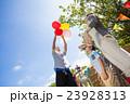 家族 公園 風船の写真 23928313