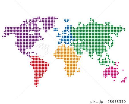 世界地図 ドット丸