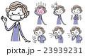 シニア女性:体調不良、セット 23939231