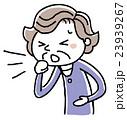シニア女性:咳 23939267