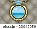 View through the porthole of yacht 3D illustration 23942059