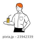 カフェ 店員 人物のイラスト 23942339