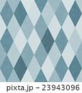 おしゃれで風合いのあるレトロなダイヤ柄シームレス(連続・繋がる)パターン 青系 背景素材 23943096