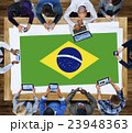 Brazil National Flag Business Communication Meeting Concept 23948363