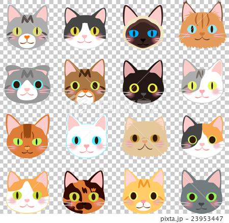 例证套猫的面孔 23953447