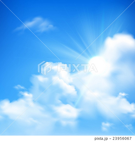 Sun And Clouds Background 23956067