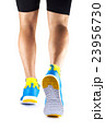 Runner legs in sneakers on a white background 23956730