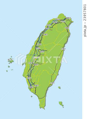 台湾マップ 23957801