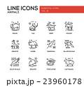 Animals - line design icons set 23960178
