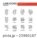 Animals - line design icons set 23960187