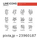 Animals - line design icons set 23960187