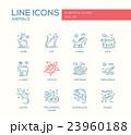 Animals - line design icons set 23960188
