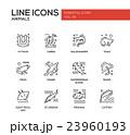 Animals - line design icons set 23960193