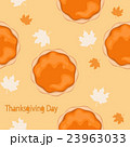 Pumpkin pie with leaves seamless pattern 23963033