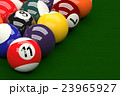 Pool Balls on Pool Table Background, 3D Rendering 23965927
