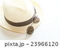 麦わら帽子とサングラス 23966120