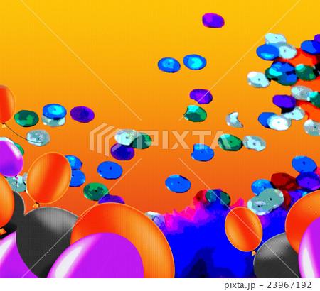 ハロウィン、サイケデリック、背景、バルーン、風船、イメージ、空間、人無し、きらきら、ハロウィーン 23967192