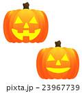 ジャックオーランタン、かぼちゃ、南瓜、バターン、表情違い、バリエーション、シンプル、キレイ、鮮明 23967739