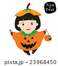 Girl wear pumpkin costume 23968450