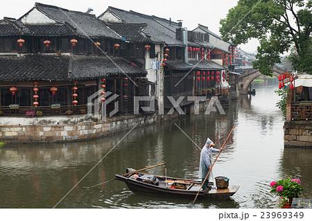 4bc0cd29c1d4db 西塘水郷風景の写真素材 [23969349] - PIXTA